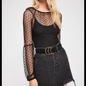 We the Free Goth Mesh Top